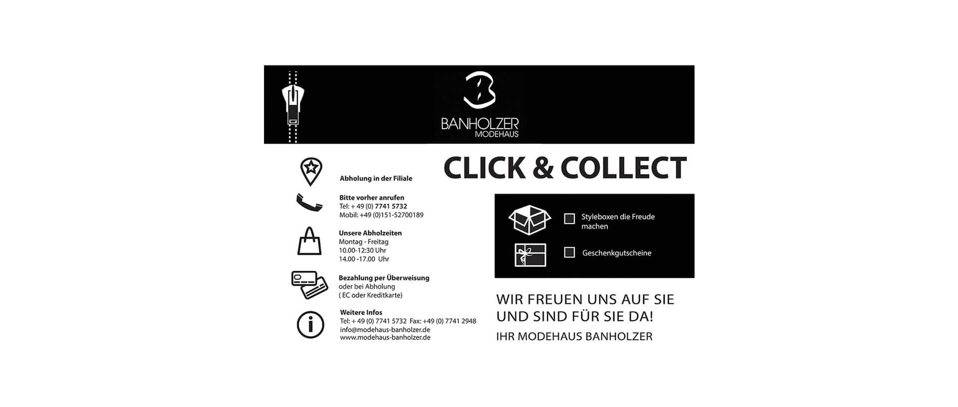 Click & Collect - Modehaus Banholzer